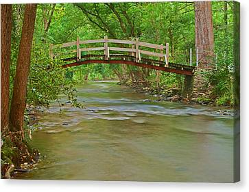 Bridge Over Valley Creek Canvas Print by Michael Porchik