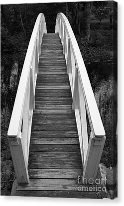 Bridge Perspective - Somesville Canvas Print by Christiane Schulze Art And Photography