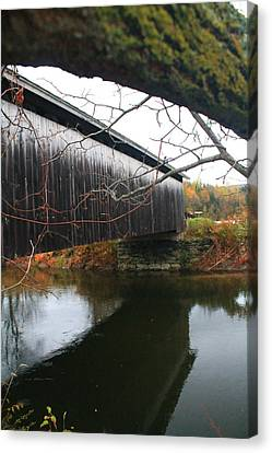 Canvas Print featuring the photograph Bridge Reflection by Alicia Knust