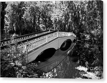 Bridge Reflection - Magnolia Plantation Canvas Print