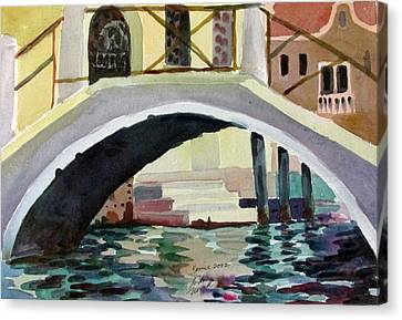 Bridge Reflections Venice Canvas Print