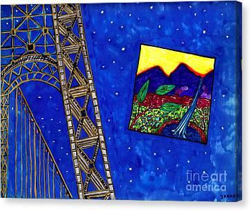 Bridge Canvas Print by Sarah Loft