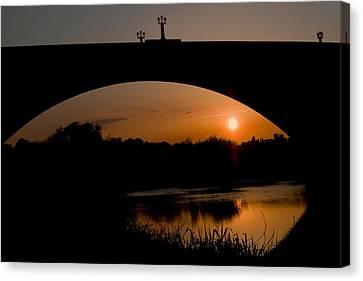Bridge Sunset Canvas Print by Jeff Dalton