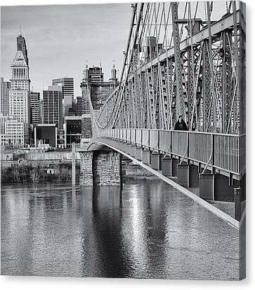 Bridge To Cincinnati Canvas Print by Diana Boyd