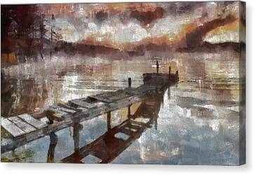 Canvas Print featuring the painting Bridge To Eternity by Georgi Dimitrov