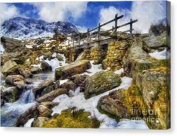 Bridge To Idwal Canvas Print by Ian Mitchell