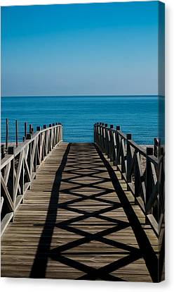 Bridge To Med Canvas Print
