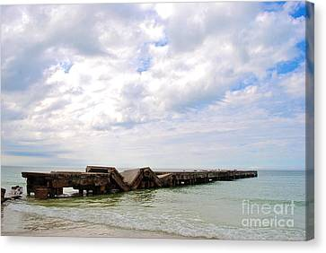 Canvas Print featuring the photograph Bridge To Nowhere by Margie Amberge