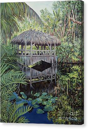 Bamboo House Canvas Print - Bridge To Paradise by Danielle  Perry