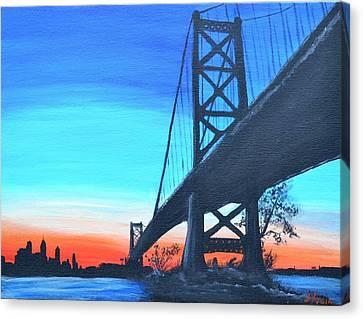 Bridge To Philly Canvas Print