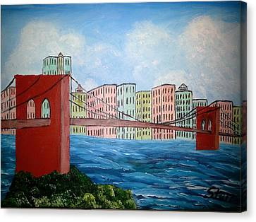 Bridge To The City Canvas Print by Irving Starr
