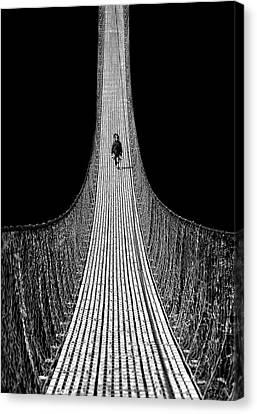 Nepal Canvas Print - Bridge To The Future by Yvette Depaepe