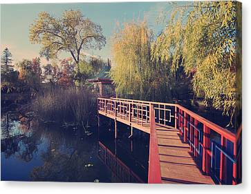 Bridge To Zen Canvas Print by Laurie Search