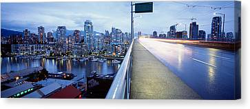 Bridge, Vancouver, British Columbia Canvas Print by Panoramic Images