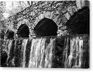 Bridge Water Canvas Print by Kenneth Feliciano