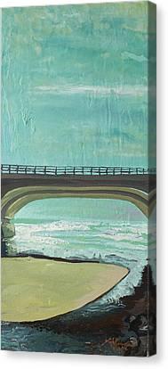 Bridge Where Waters Meet Canvas Print by Joseph Demaree