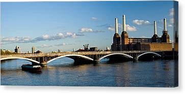 Bridge With Battersea Power Station Canvas Print by Panoramic Images