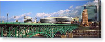 Bridge With Buildings Canvas Print by Panoramic Images