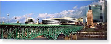 Bridge With Buildings Canvas Print
