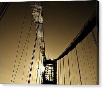 Bridge Work Canvas Print