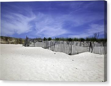 Bridgehampton Beach - Fences Canvas Print by Madeline Ellis