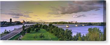 Bridges Across A River, Jacques Cartier Canvas Print