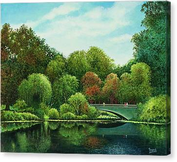 Canvas Print featuring the painting Bridges Of Forest Park by Michael Frank