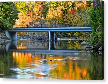 Bridges Of Madison County Canvas Print by Frozen in Time Fine Art Photography