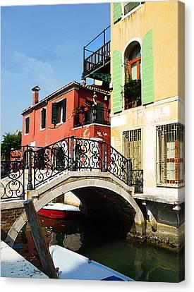 Bridges Of Venice Canvas Print by Irina Sztukowski