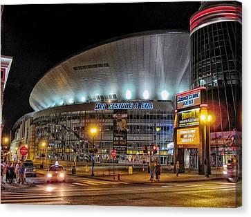 Bridgestone Arena - Nashville Canvas Print by Mountain Dreams