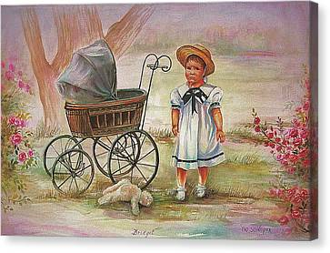 Canvas Print featuring the painting Bridget by Patricia Schneider Mitchell
