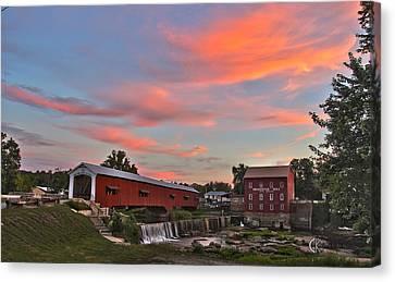 Bridgeton At Sunset Canvas Print by Clayton Kelley