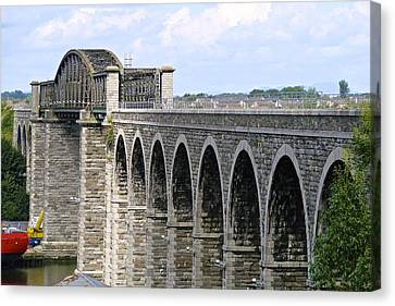 Bridging The Boyne Canvas Print by Charlie and Norma Brock