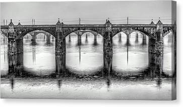 Canvas Print featuring the photograph Bridging The Susquehanna  by JC Findley
