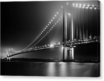 Canvas Print featuring the photograph Bridging Verrazano Narrows by Mihai Andritoiu