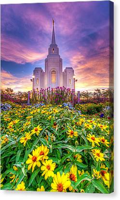 Brigham City Temple Canvas Print