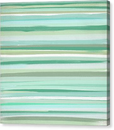 Green And Yellow Abstract Canvas Print - Bright And Airy by Lourry Legarde