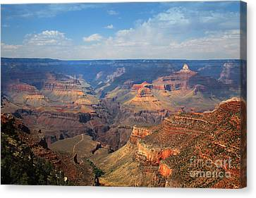 Canvas Print featuring the photograph Bright Angel Trail Grand Canyon National Park by Jemmy Archer