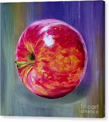 Bright Apple Canvas Print by Graciela Castro