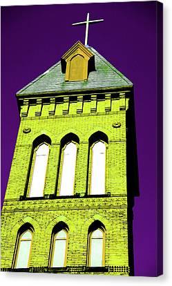 Bright Cross Tower Canvas Print by Karol Livote