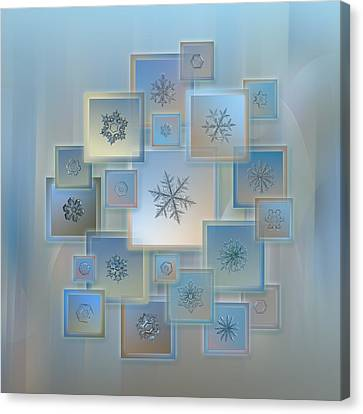 Snowflake Collage - Bright Crystals 2012-2014 Canvas Print