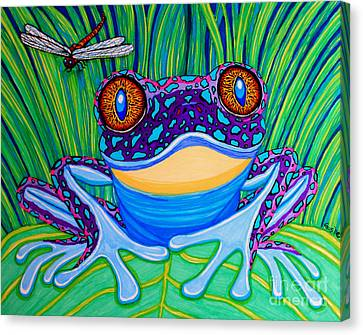 Bright Eyed Frog Canvas Print by Nick Gustafson