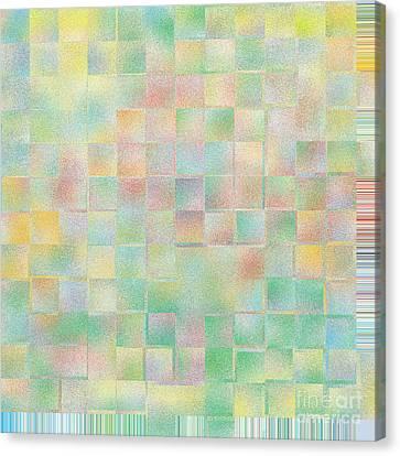 Bright Flowers On A Blue Day Canvas Print by Lorraine Heath