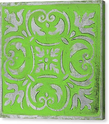 Mosaic Canvas Print - Bright Green Mosaic by Patricia Pinto