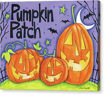 Bright Halloween Iv Canvas Print by Anne Tavoletti
