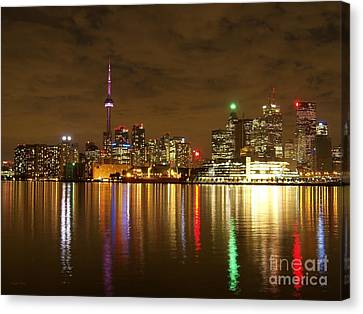 Bright Lights Big City Canvas Print by Lingfai Leung