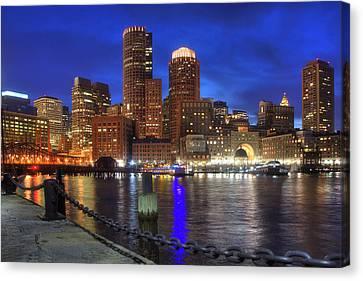 Bright Lights Boston Canvas Print by Joann Vitali