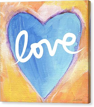 Bright Love Canvas Print by Linda Woods
