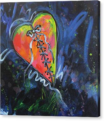 Bright Mended Broken Heart Canvas Print by Carol Suzanne Niebuhr