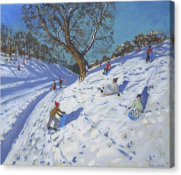 Bright Morning   Chatsworth Canvas Print by Andrew Macara